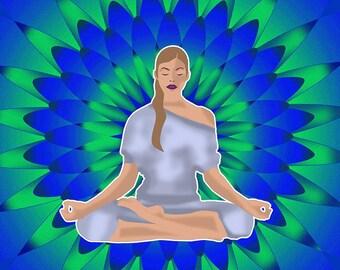 Yoga Inspired Art created by Karina Thacker © 2017