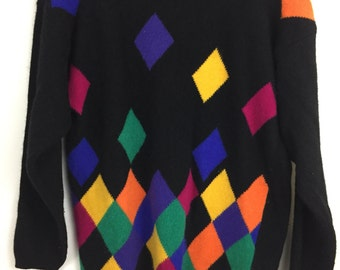 Vintage Casual Corner Sweater Lambswool Angora Pullover Sweater