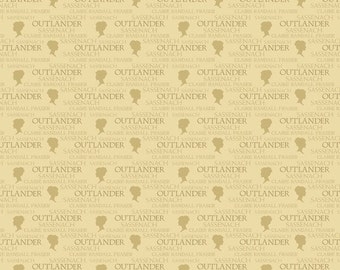 Beige Outlander, A-8327-N cotton fabric, Outlander by Andover Fabrics