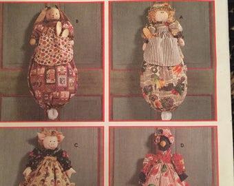 "Vinrage Simplicity Sewing Pattern: ""Plastic Bag Holder/ Four Designs""~ Uncut"