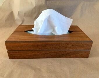 Manly Gruvwood Walnut Kleenex Tissue Box