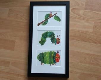 The Hungry Caterpillar wall art framed