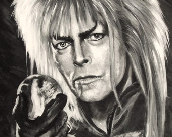 Goblin King - David Bowie - Jareth - Labyrinth - Limited Edition A3 print direct from artist