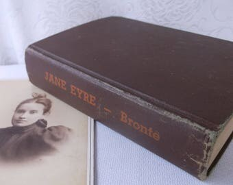 Vintage Jane Eyre Book by Bronte, Victorian Feminism, Feminist Book, Classic Literature Book, Victory Edition Brooklyn, NY Pub