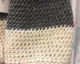 Two-tone boot cuffs