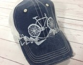 Rad Bicycle Cap - Gift for Him Gift for Her - Mountain Bike Block Print Trucker Hat