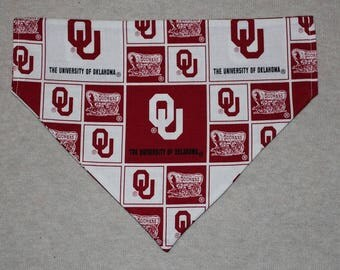 Oklahoma Sooners Dog Bandanna in Small, Medium, or Large