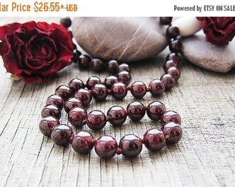 VALENTINES SALE Gifts for wife Garnet necklace January birthstone Aquarius necklace zodiac jewellery Energy necklace Protection neckl