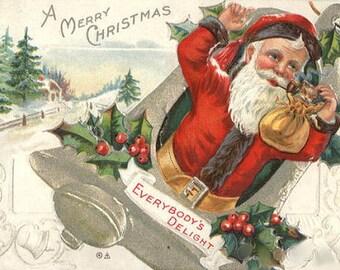 "Santa Claus ""Everybody's Delight"" 1910 Postcard  - Winsch"