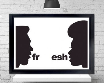 Fresh Poster - the electric company, silhouettes, illustrations, hip hop, music, 70s