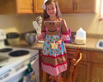 GIRLS GINGERBREAD DRESS holiday gingerbread boy outfit
