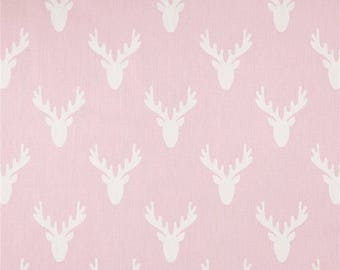 Pink Baby Curtains, Deer Nursery Curtains, Blackout Window Curtain Panels , Nursery, Baby, White and Pink, Pink Deer