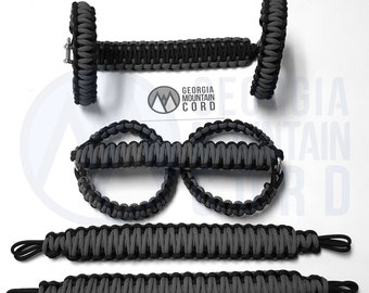 Paracord Grab Handles Set + Headrest or Rear Sound-bar Jeep JK 2-door