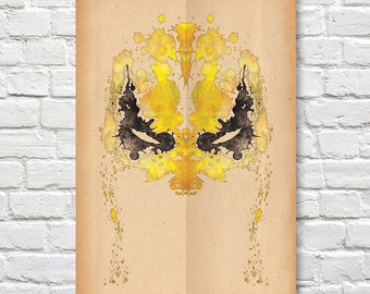 """Iron Fist Rorschach Poster (Marvel // Defenders) - 11"""" x 17"""""""