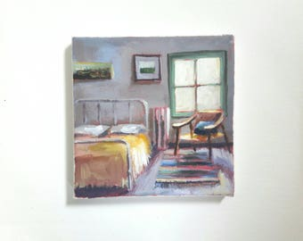 paintings for bedroom. original acrylic painting  bedroom eclectic interior tiny small paintings Bedroom Etsy