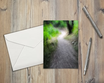 "The Path Ahead, 5"" X 7"" greeting card"