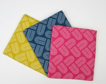 10% OFF Cotton Fabric Fat Quarter Bundle - 3 Fabrics - Macrame by Cotton + Steel