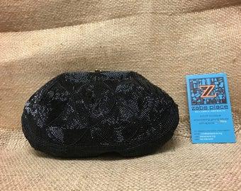 Vintage Jorelle Black Beaded Clutch