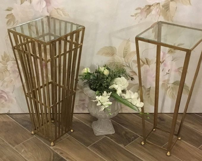 Antique gold coffee tables