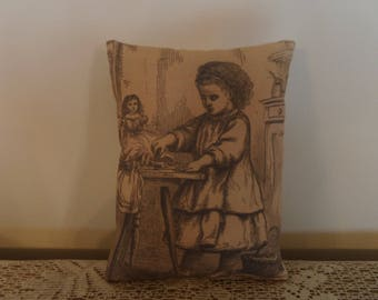 Victorian Girl Doll Pillow