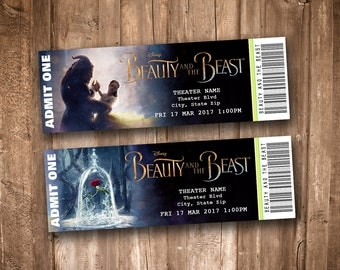 Beauty and the Beast 2017 Collectible Movie Tickets