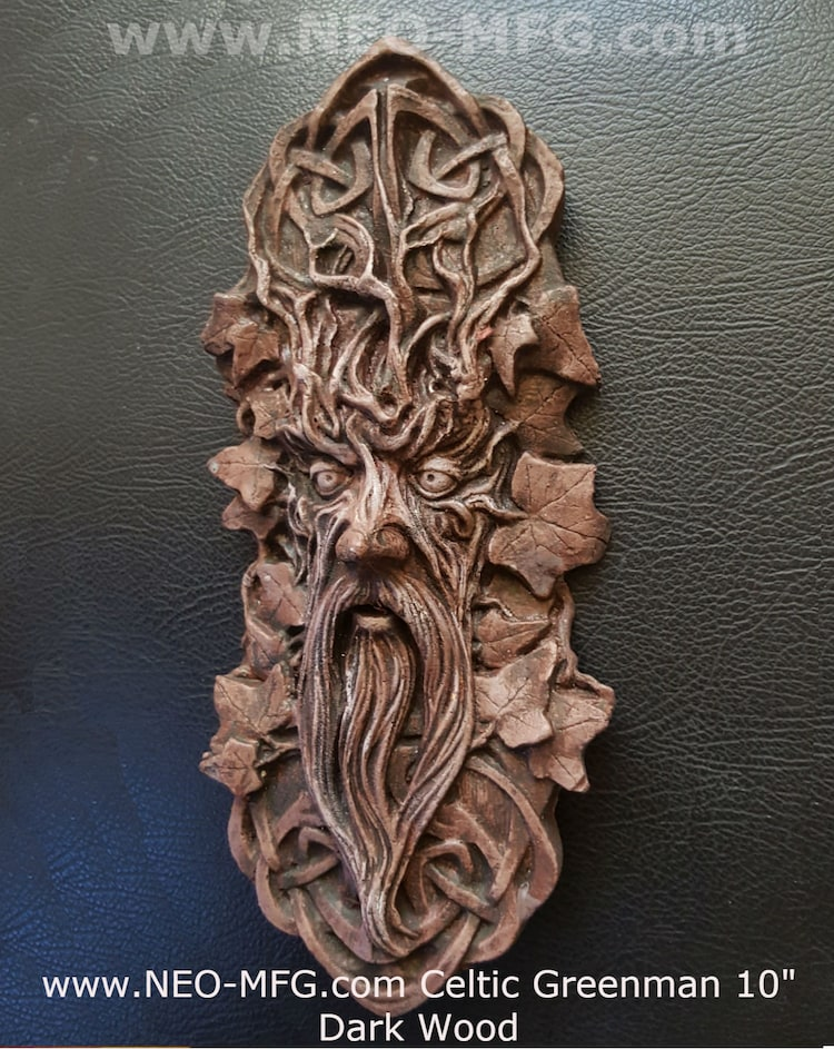 Nature Greenman Celtic Green Man Wall Relief By Wwwneomfgcom