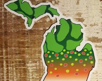 Michigan Brook Trout Sticker Decal