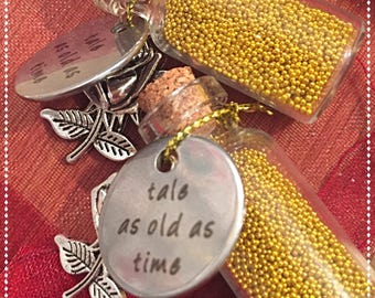 Beauty and the Beast dust and charm - Tale as Old As Time - party favour