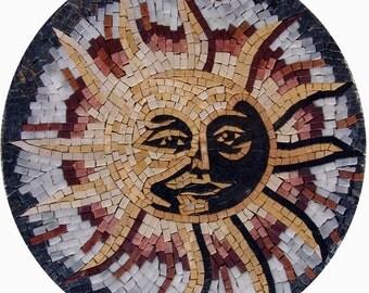 Sun Accent Mosaic Rondure - Shams II