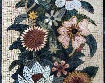 Camellias and Carnation Flower Mosaic