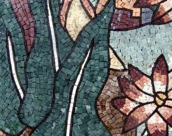 The Lotus River Mosaic Artwork
