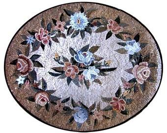 Flower Leaves Marble Floor Entrance