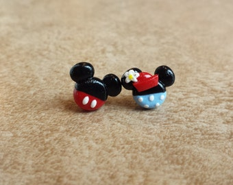 Vintage Mickey and Minnie Mouse Inspired Earrings