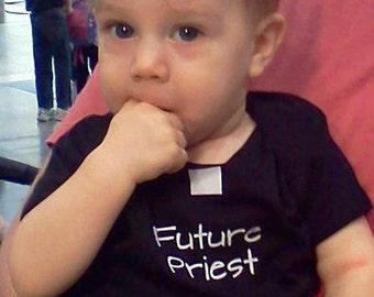 FUTURE PRIEST Catholic Infant Onesie