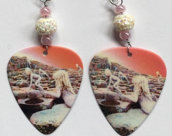 1 Pair- Led Zeppelin Guitar Pick Earrings