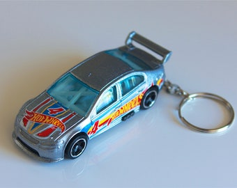 Ford Falcon Race Car - Hot Wheels Die cast on Key Chain