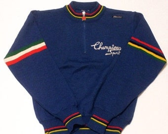 70's Deadstock Santini cycling jersey made in Italy
