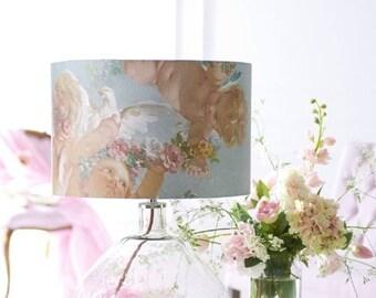 Cherubs and Flowers Drum Lampshade