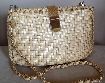Mid-Century Woven Purse Made in Hong Kong