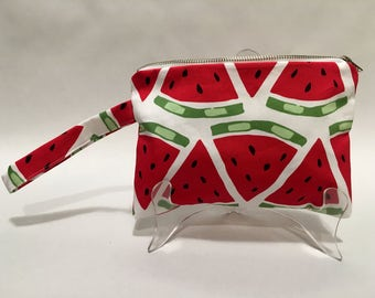 Clutch Purse // Pencil Case // Bag // Accessory // Gift // Watermelon Print // Fruit // Summer