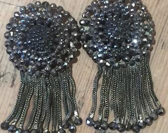 A Pair of Georgian Steel Cut Earrings