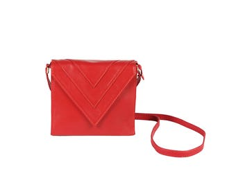 The Charlotte Red Triangle Cross-Body