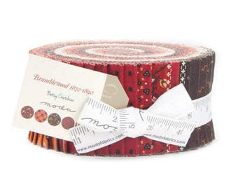 "Bramblewood 1870-1890 Jelly Roll 40, 2.5"" strips by Baetsy Chutchain for Moda Fabrics, Civil War jelly roll, fabric"