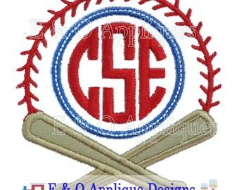 Baseball Monogram Applique Design - Baseball Applique Design - Baseball Embroidery Design - Softball Applique Design - Digital Design