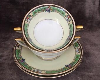 Thomas Bavaria soup bullions and plate set Emerald pattern 77381