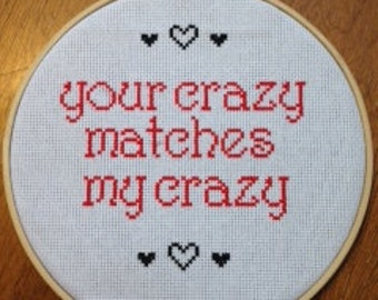 Deadpool Love Quote Cross Stitch