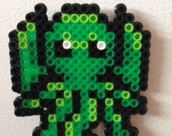 Small Cthulhu Perler Bead Magnet