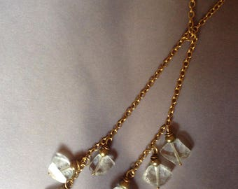 self tie necklace with crystals.