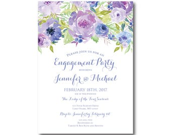 PRINTABLE Engagement Party Invitation, Engagement Party Invitation, They're Engaged, We're Engaged, Engagement Party Invitation #CL330
