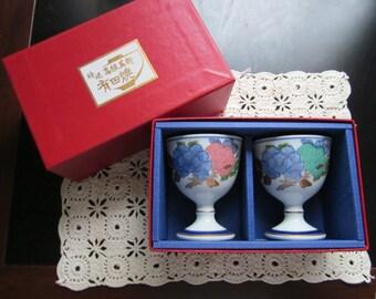 Elegant Japanese wine glass boxed set